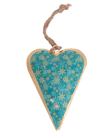 Winter Design Heart Christmas Decoration