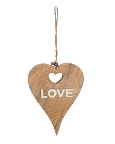 Hanging Heart with Cut Out Message