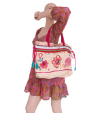 Embroidered Cotton Shoulder Bag